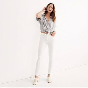"Madewell 9"" high rise skinny jeans"